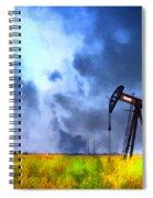 Oil Pump Field Spiral Notebook
