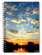 Okavango Delta Sunset Spiral Notebook