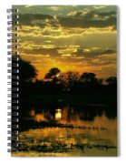 Okavango Sunset Spiral Notebook