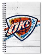Okc Thunder Basketball Team Retro Logo Vintage Recycled Oklahoma License Plate Art Spiral Notebook