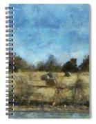 Oklahoma Hay Rolls Photo Art 02 Spiral Notebook