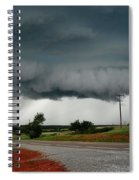 Oklahoma Wall Cloud Spiral Notebook