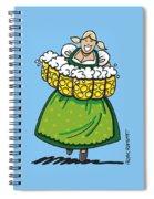 Oktoberfest Beer Waitress Dirndl Spiral Notebook