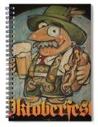 Oktoberfest Guy Poster Spiral Notebook