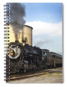 Old 3254 Heading Down The Line Spiral Notebook