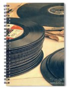 Old 45s Spiral Notebook
