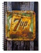 Old 7 Up Sign Spiral Notebook