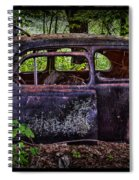 Old Abandoned Car In The Woods Spiral Notebook