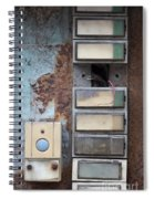 Old And Damaged Doorbells Spiral Notebook