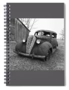 Old And Forgotten Black And White Spiral Notebook