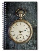 Old Antique Pocket Watch Spiral Notebook