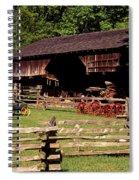 Old Appalachian Farm Cantilevered Barn Spiral Notebook