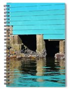 Old Aqua Boat Shed With Aqua Reflections Spiral Notebook