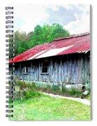 Old Barn Along Golden Road Filtered Spiral Notebook