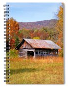 Old Barn Along Slick Fisher Road Spiral Notebook