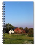 Old Barn At Sunset Spiral Notebook