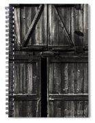 Old Barn Door - Bw Spiral Notebook