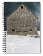 Old Barn In A Snow Storm Spiral Notebook