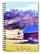 Old Barn In November Filtered Spiral Notebook