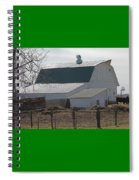 Old Barn With New Roof Spiral Notebook