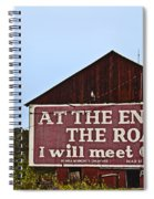 Old Barn With Religious Sign Spiral Notebook