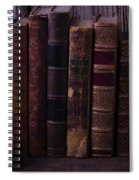 Old Baseball And Books Spiral Notebook