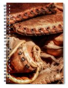 Old Baseball Gloves Spiral Notebook