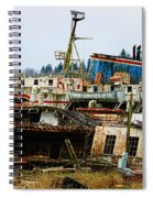 Old B.c. Rusted Ferry Spiral Notebook