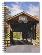 Old Bedford Village Covered Bridge Entrance Spiral Notebook