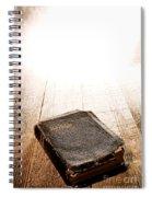 Old Bible In Divine Light Spiral Notebook