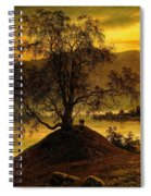 Old Birch Tree At The Sognefjord Spiral Notebook
