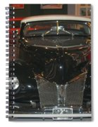 Old Black And White Hardtop Spiral Notebook