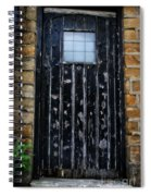 Vintage Cottage Black Door Spiral Notebook