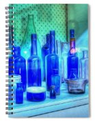 Old Blue Bottles Spiral Notebook
