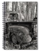 Old Blue In Sepia Spiral Notebook