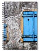 Old Blue Shutters Spiral Notebook