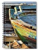 Old Boat - Lebanese Artist Zaher El- Bizri Spiral Notebook