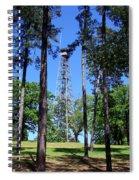 Old Bodcau Fire Tower In Louisiana Spiral Notebook