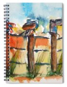 Old Boots On Old Fence Spiral Notebook