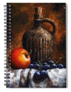 Old Bottle And Fruit Spiral Notebook