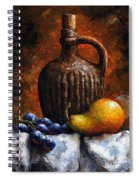 Old Bottle And Fruit II Spiral Notebook