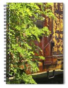 Old Boxcar Dying Slowly Spiral Notebook