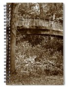 Old Bridge In Summer Spiral Notebook