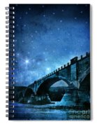 Old Bridge Over River Spiral Notebook