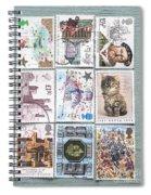 Old British Postage Stamps Spiral Notebook