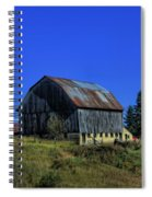 Old Broken Down Barn In Ohio Spiral Notebook