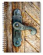 Old Bronze Church Door Handle Spiral Notebook