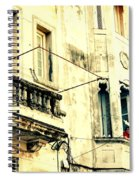 Old Building Facade Spiral Notebook