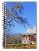 Old Cabin And Tree Spiral Notebook