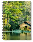 Old Cabin By The Pond Spiral Notebook